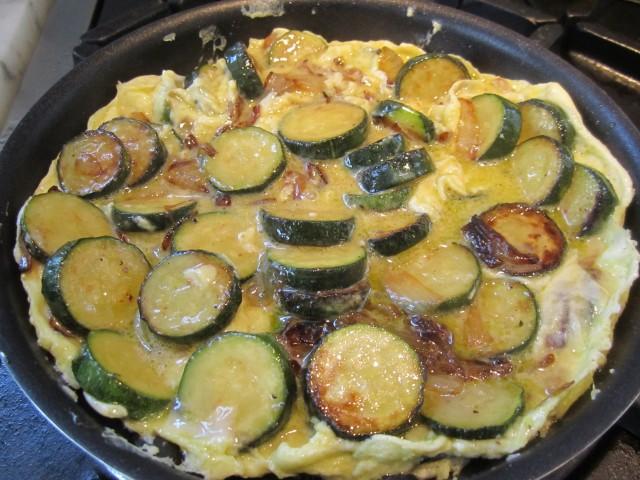 Zucchini and Onion Frittata   italianatedotcom