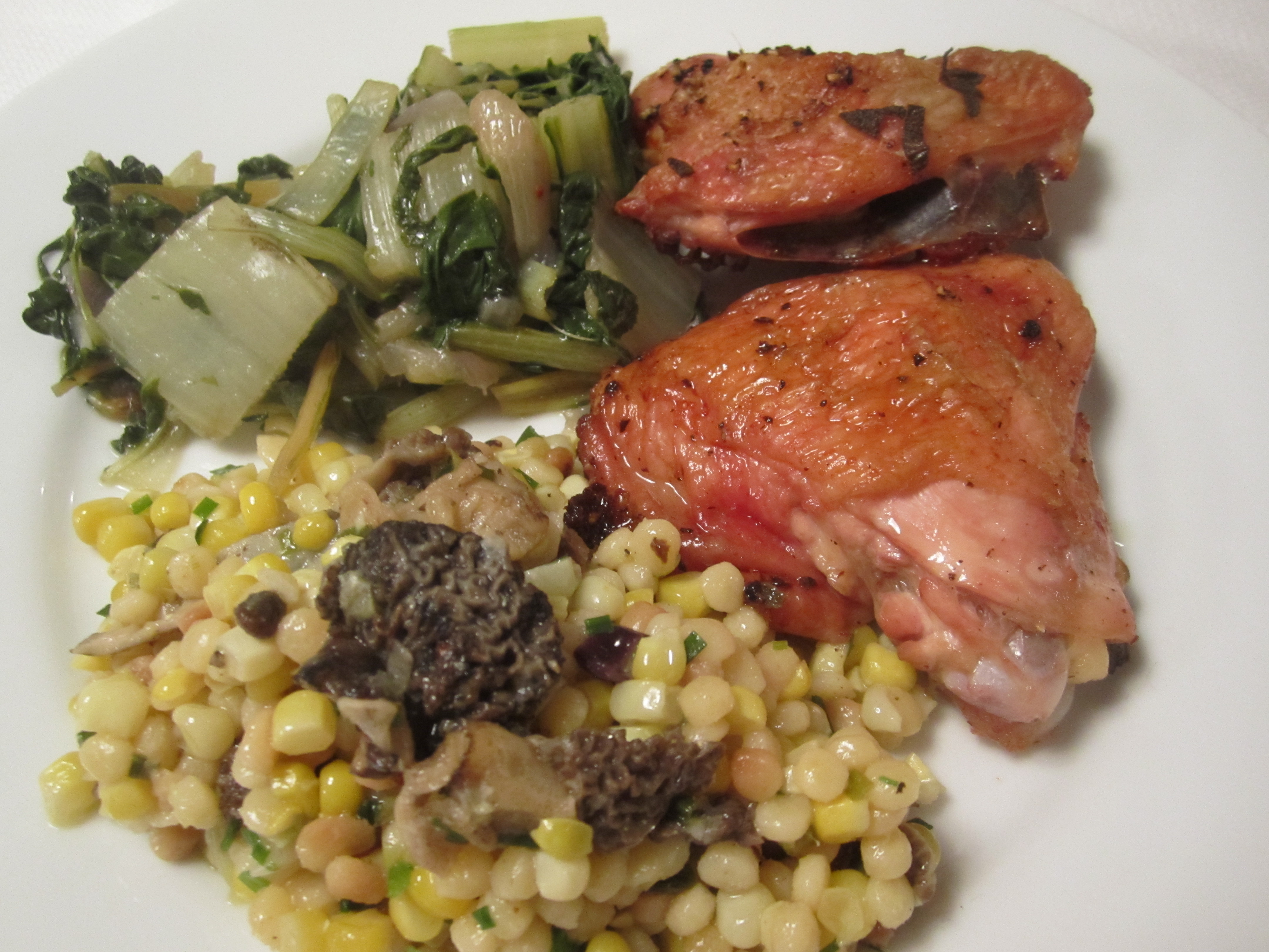 Fregula with Corn and Morels | italianatedotcom