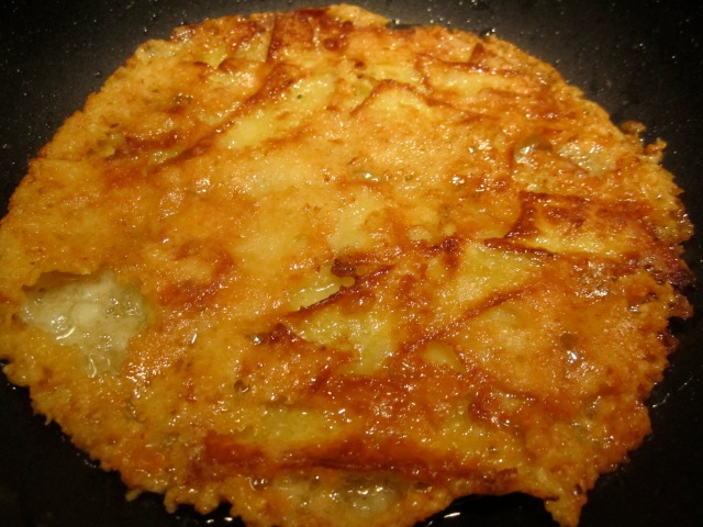 ... fried pasta made an unexpected and extremely crisp and golden frico