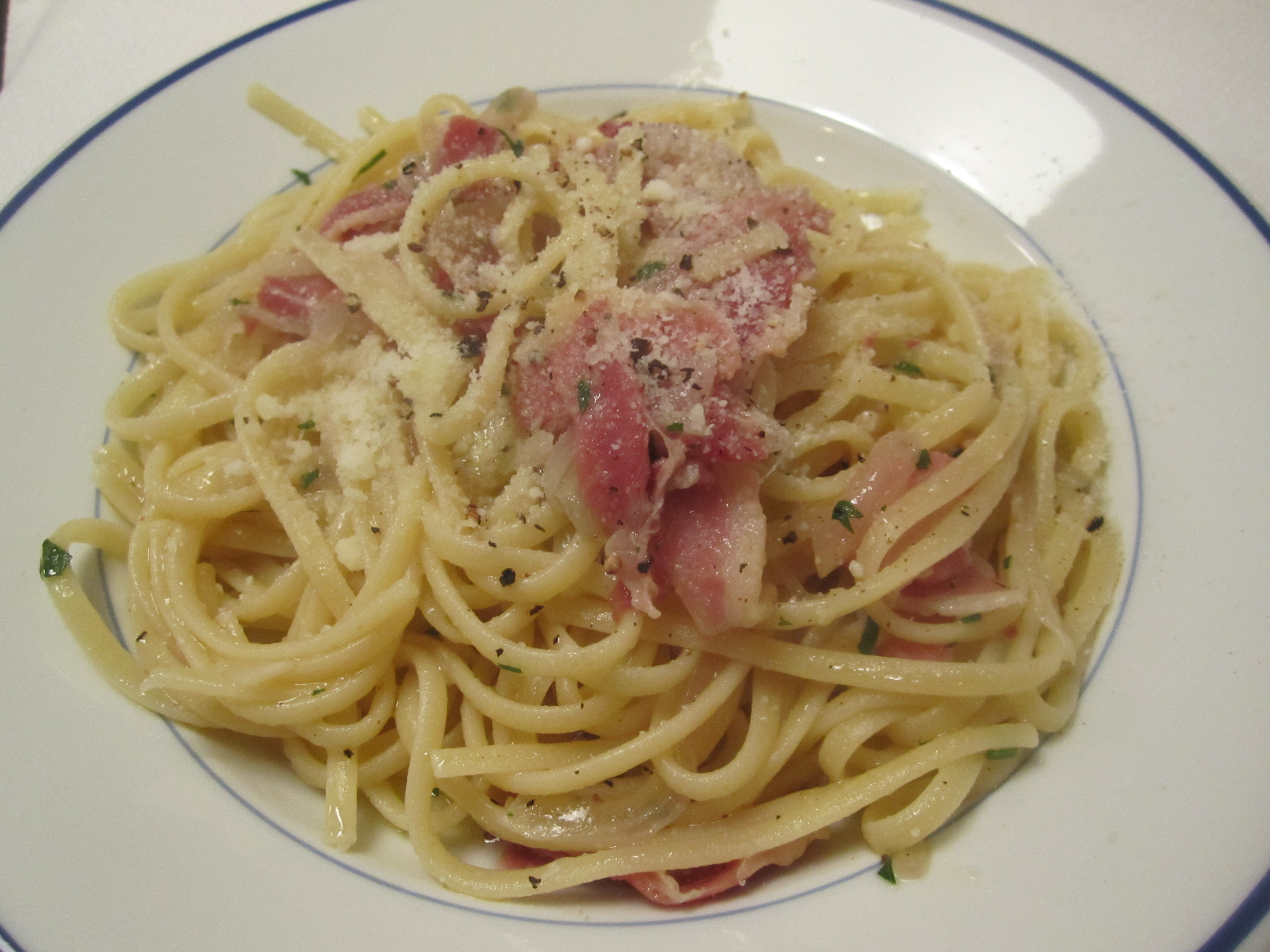 ... roman pasta dish made with pasta pancetta and pecorino in rome the